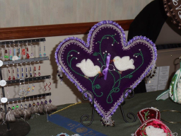 Sheila Escobar's beaded heart